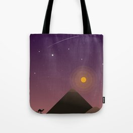 Desert at Dusk Poster Tote Bag
