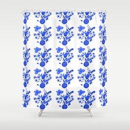 Blue &White Floral Shower Curtain