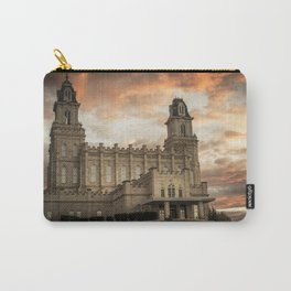 Manti LDS Temple Sky on Fire Carry-All Pouch