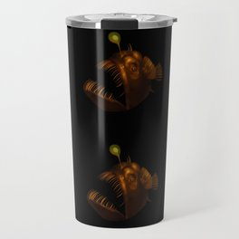 Deep Sea Anglerfish Watercolor Travel Mug