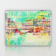 futuristic world in turquoise Laptop & iPad Skin