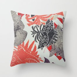 Coral Coastal Throw Pillow