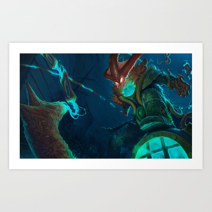 Deep Terror Thresh League Of Legends Art Print By Mrfattemi Society6
