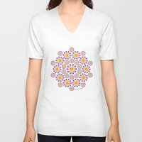sun and moon V-neck T-shirts featuring Sun, Moon and Stars by artsytoocreations
