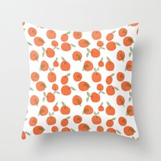 Oranges Pattern Throw Pillow
