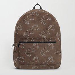 Peace Love Coffee Backpack