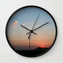Spring sunset Brasil Wall Clock