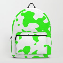 Large Spots - White and Neon Green Backpack