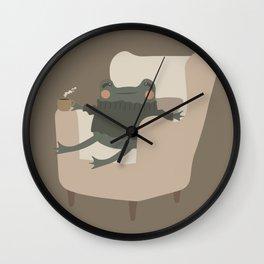 Frog Cozy Evening Tea | Jeni the Frog Wall Clock