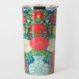 Vintage Floral Pattern from Indian, 19th Century Travel Mug