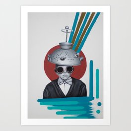Colander Head Boy Art Print
