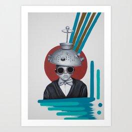 Colander Head Boy Art Print