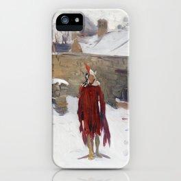 John Singer Sargent, Mannikin in the Snow,1891 iPhone Case