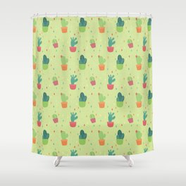 Cactus Party Pattern Shower Curtain