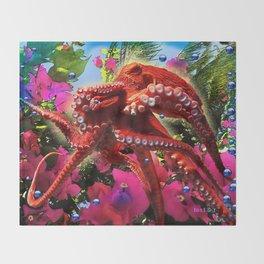 Octopus's Garden Throw Blanket