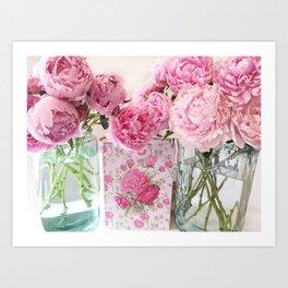 Peony Prints Peony Flowers Pink Peony Floral Decor Art Print