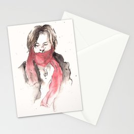 scarves of red tied 'round their necks. Stationery Cards