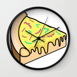 Pizza Code Toppings Wall Clock