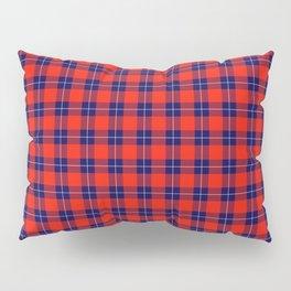 Maasai Shuka - Red & Blue Pillow Sham