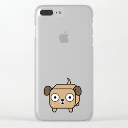 Pitbull Loaf - Fawn Pit Bull with Floppy Ears Clear iPhone Case