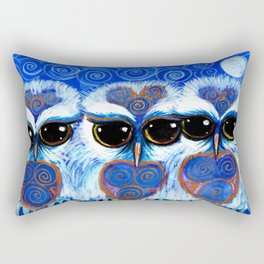 Children of the Moon, original Illustration from the Spirit Owl Series by Sheridon Rayment. Rectangular Pillow