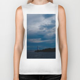 Lighthouse Storm Biker Tank