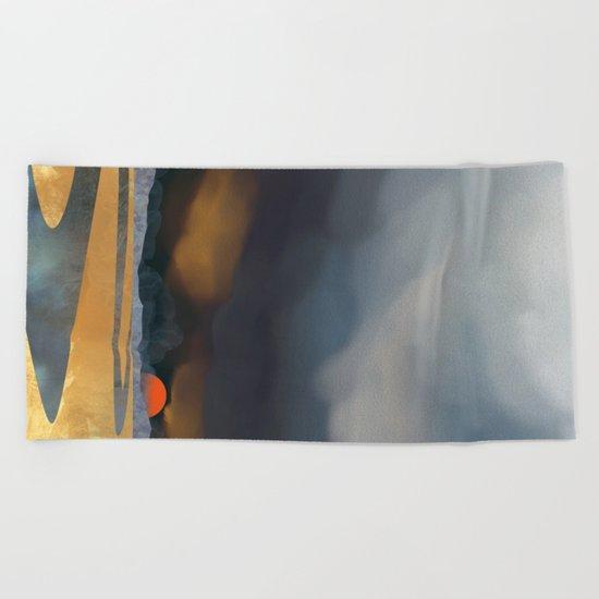 Storm Light Beach Towel