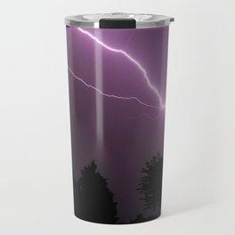 Purple Lightning Night Sky Travel Mug