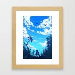 A HUGE WORLD Framed Art Print