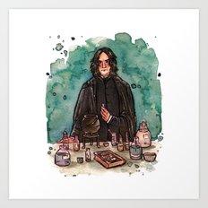 Severus Snape, potions master Art Print