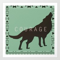 courage Art Prints featuring Courage by Laura Santeler