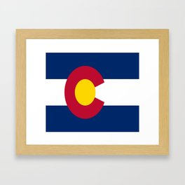 flag colorado,america,usa,south,desert, The Centennial State,Coloradan,Coloradoan,Denver,Springs Framed Art Print