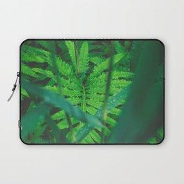 Jungle Green on a Rainy Day Laptop Sleeve