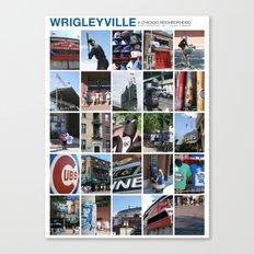 Wrigleyville Neighborhood Poster Canvas Print