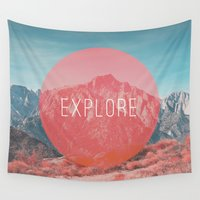 explore Wall Tapestries featuring Explore by Zeke Tucker
