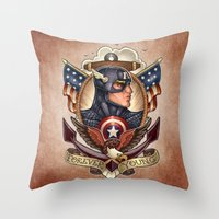 forever young Throw Pillows featuring FOREVER YOUNG by Tim Shumate