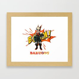 my hero academia bakugou Framed Art Print