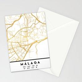 MALAGA SPAIN CITY STREET MAP ART Stationery Cards