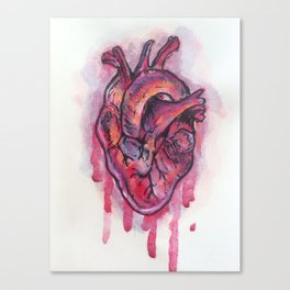 Dripping Heart Canvas Print