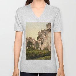 Vintage Photo-Print of Donegal Castle (1900) Unisex V-Neck