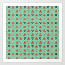 Triune - Mint Green Art Print