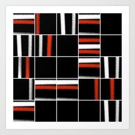 Zen tartan Art Print
