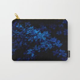 MACRO PHOTOGRAPHY OF BLUE FLOWERS Carry-All Pouch
