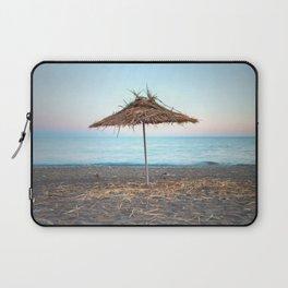 Straw umbrellas on the beach Laptop Sleeve