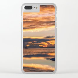 Sunset from the Champalimaud Foundation Clear iPhone Case