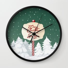 Merry Christmas and a Happy New Year Wall Clock