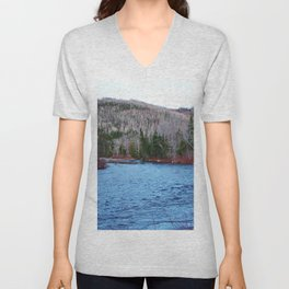 River in Nature Unisex V-Neck