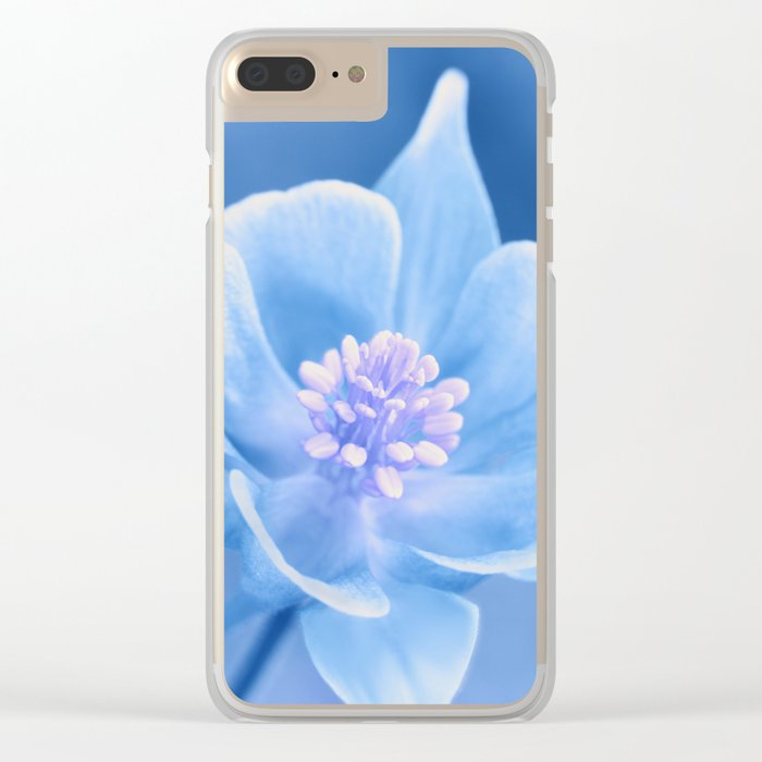 Columbine Flower 161 Clear iPhone Case