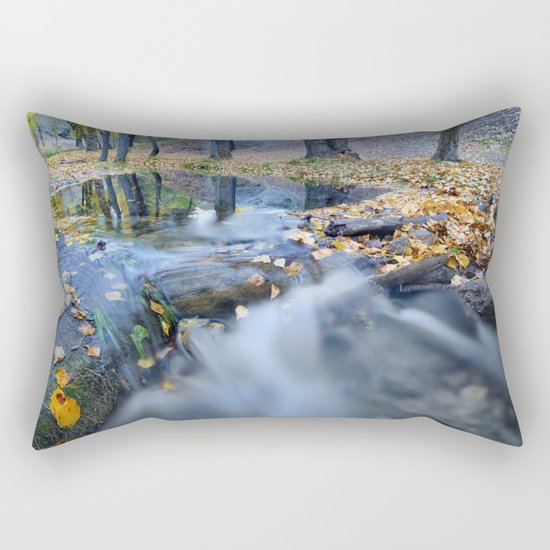 """""""White river"""" Into the woods Rectangular Pillow"""