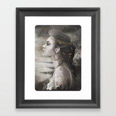 Golden Tear Framed Art Print